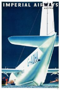 Vintage Travel Poster Imperial Airways